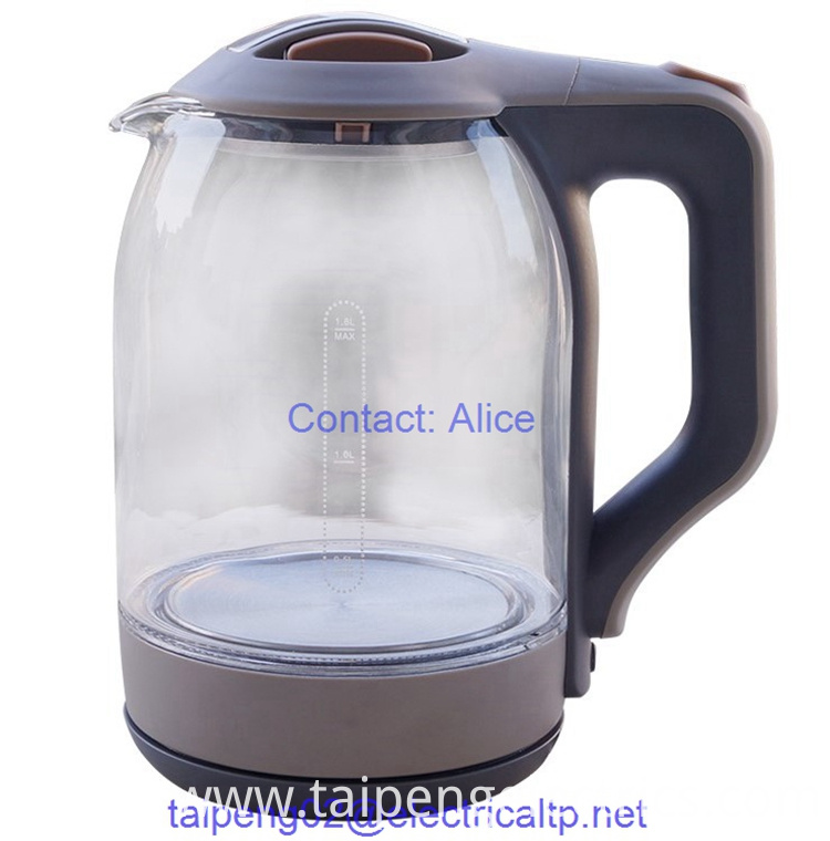 Glass Kettle With Blue Light