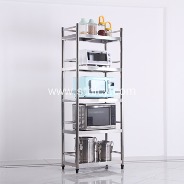 Multi-Layer Floor-Mounted Stainless Steel Commodity Shelf