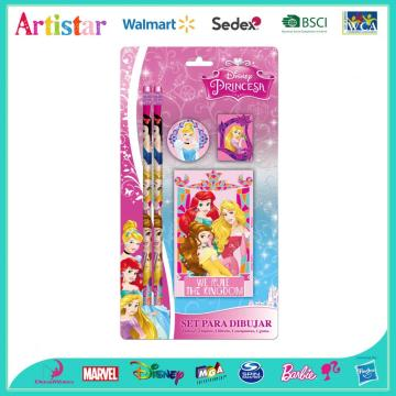 Disney Princess 5-piece notebook blister card set