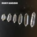 White Crystal Pillar 2 Tips Tansparent Stones and Minerals High Quality Wholesale Factory Stone Runyangshi ZB20