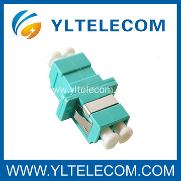 LC Fiber Optic Adapter , LC Duplex Multimode 10Gb OM3 Optical Fiber Adapter