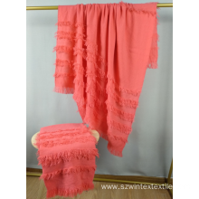 Adult Nautral tassel Blanket