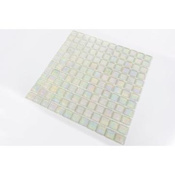 white crystal edge chipping honey berry glass mosaic
