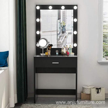 Vanity Set with Lighted Mirror Makeup Dresser Desk Dressing Table