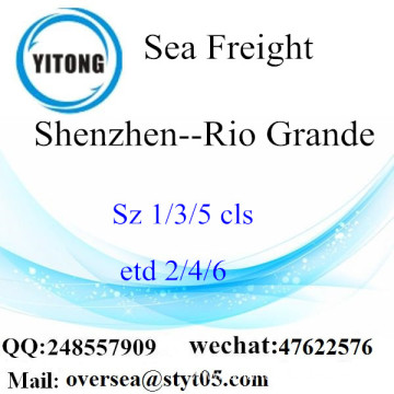 Shenzhen Port LCL Consolidation To  Rio Grande