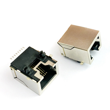 RJ45 JACK Top Entry 1X1Port Shield Type