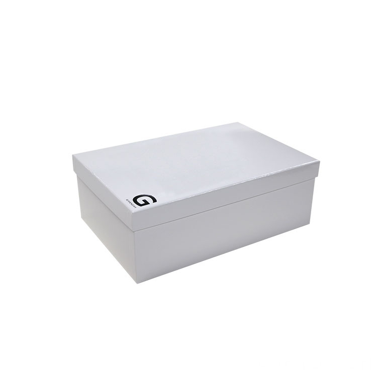 Custom White Two Pieces Shoes and Appreal Box