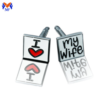 High quality base metal cufflink gift set