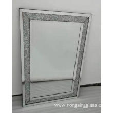 Crystal diamond rectangular Clear Mirror MDF mirror