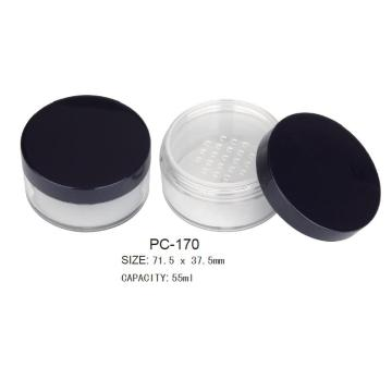 Cosmetic Round Empty Loose Powder Case
