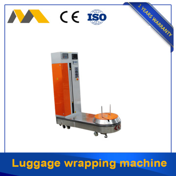 Easy operation luggage overwrapping machine