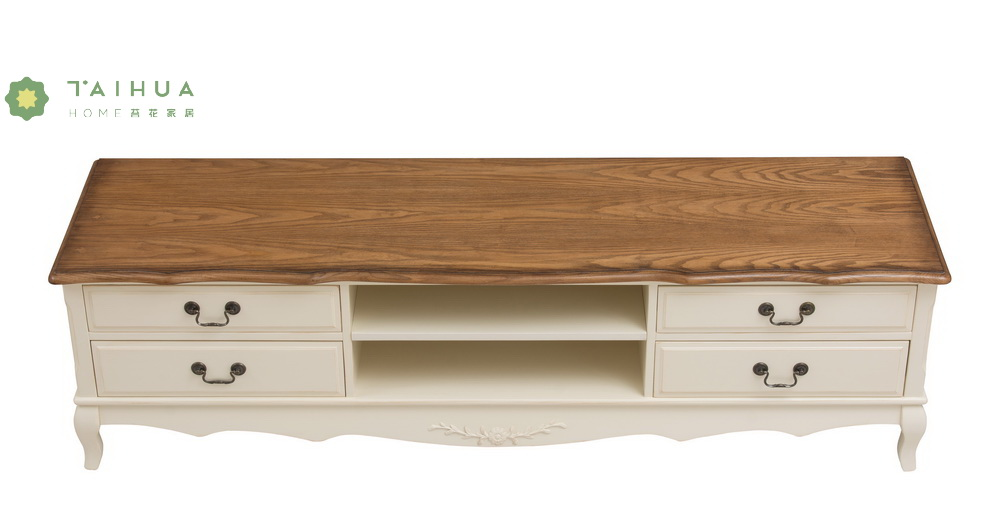 Solid Wood TV Stand Four Drawers