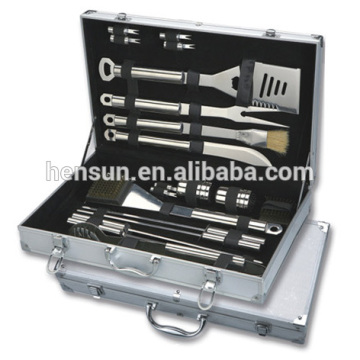 Grill Accessories Tool BBQ Set With Aluminium Box