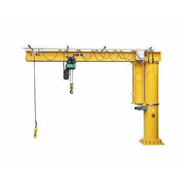Lifting machinery electric slewing floor mounted jib crane
