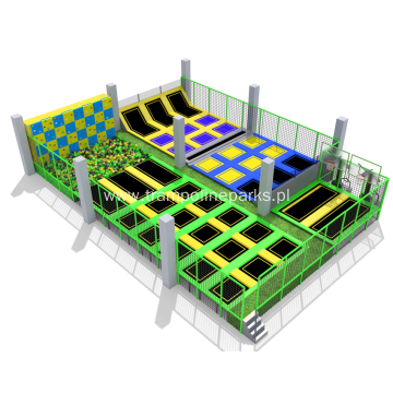 Children Jumping Play  Trampoline Park