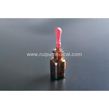 Dropping Bottle Amber Glass with Ground-in Pipette and Latex Rubber Nipple