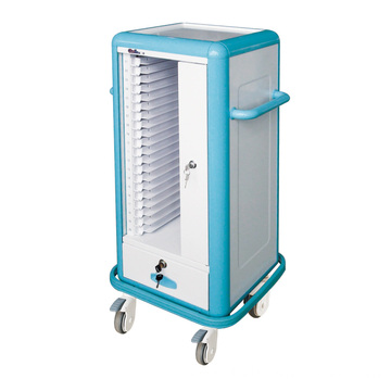 Hospital Aluminum Alloy Detachable Medical Record Trolley