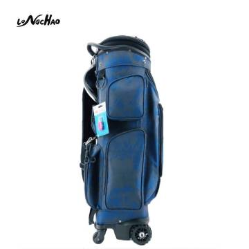5 Dividers convenient Golf Bag with four Wheels