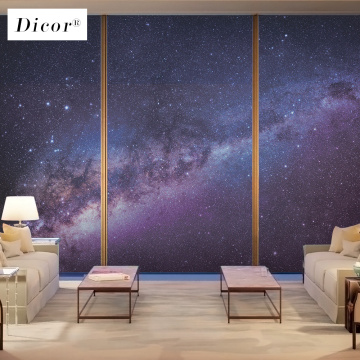 Universe Background Poster Privacy Window Film Stained Glass Pattern Frosted Decorative Window Sticker Decal Decoration 2019 New