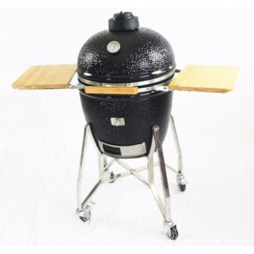 Home Garden 21'' Charcoal Kamado Grill with Carts