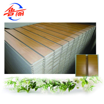 Raw or Melamine faced slotted MDF board