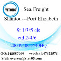 Shantou Port Sea Freight Shipping To Port Elizabeth