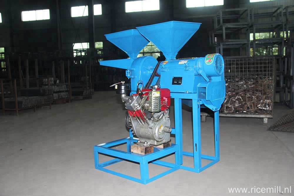 Small diesel portable rice milling machine