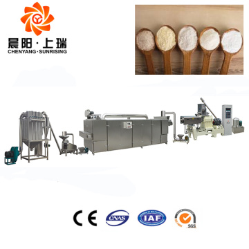 Modified starch processing machines line