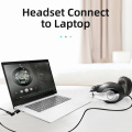 Unnlink External USB Sound Card Adapter Audio USB to 3.5mm Converter OMTP/CTIA microphone+audio For Computer Laptop PC PS4 Pro