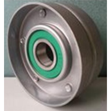Flat bearing tensioner pulley