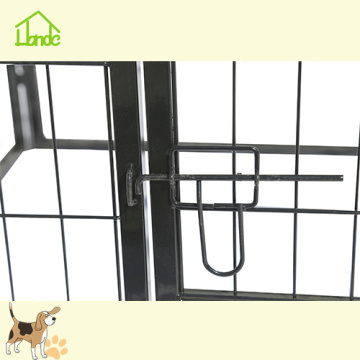 Large square tube fence pet running