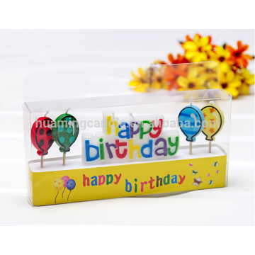 four balloons birthday candles art candles