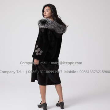 Overcoat For Women Reversible Mink Fur