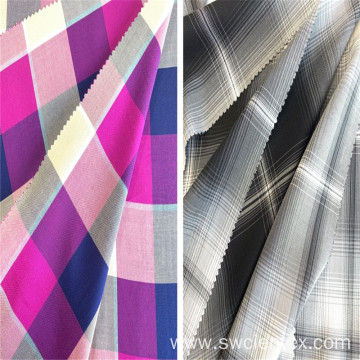 Fashion Design Plaid Dyed Yarn Rayon Checked Fabrics