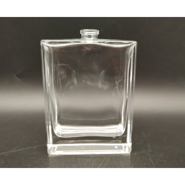 100ml clear square glass perfume bottle