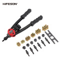 HIFESON Rivet Nuts Guns Hand Threaded Rivet Nuts Guns with Nuts Double Insert Manual Riveting Tool for M3/M4/M5/M6/M8/M10 Nut