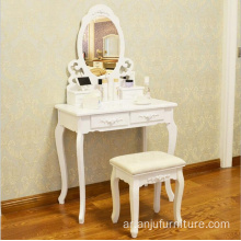Simple wooden dressing table mirror