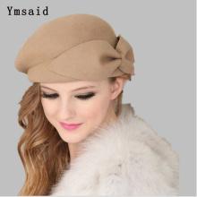 New Fashion Women Beret Hat 100% wool Vintage Warm Wool Winter Women Beret French Artist Beanie Hat Cap For Sweet Girl Gift