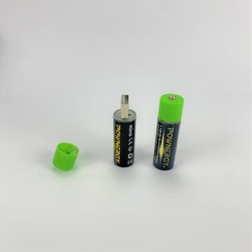 1.5v AA Rechargeable Lithium Ion Battery USB Charging