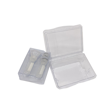 Disposable clear trapped double blister packaging