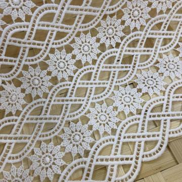 Lilied Milky Yarn Inflorescence Pattern Embroidery Fabric