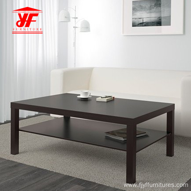 Hollowcore Black Simple Design Coffee Table