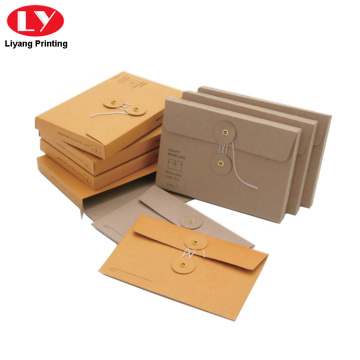 A4 size  brown envelope with closure button