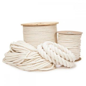 10mm Colored 3-strand Twisted Cotton Rope Macrame