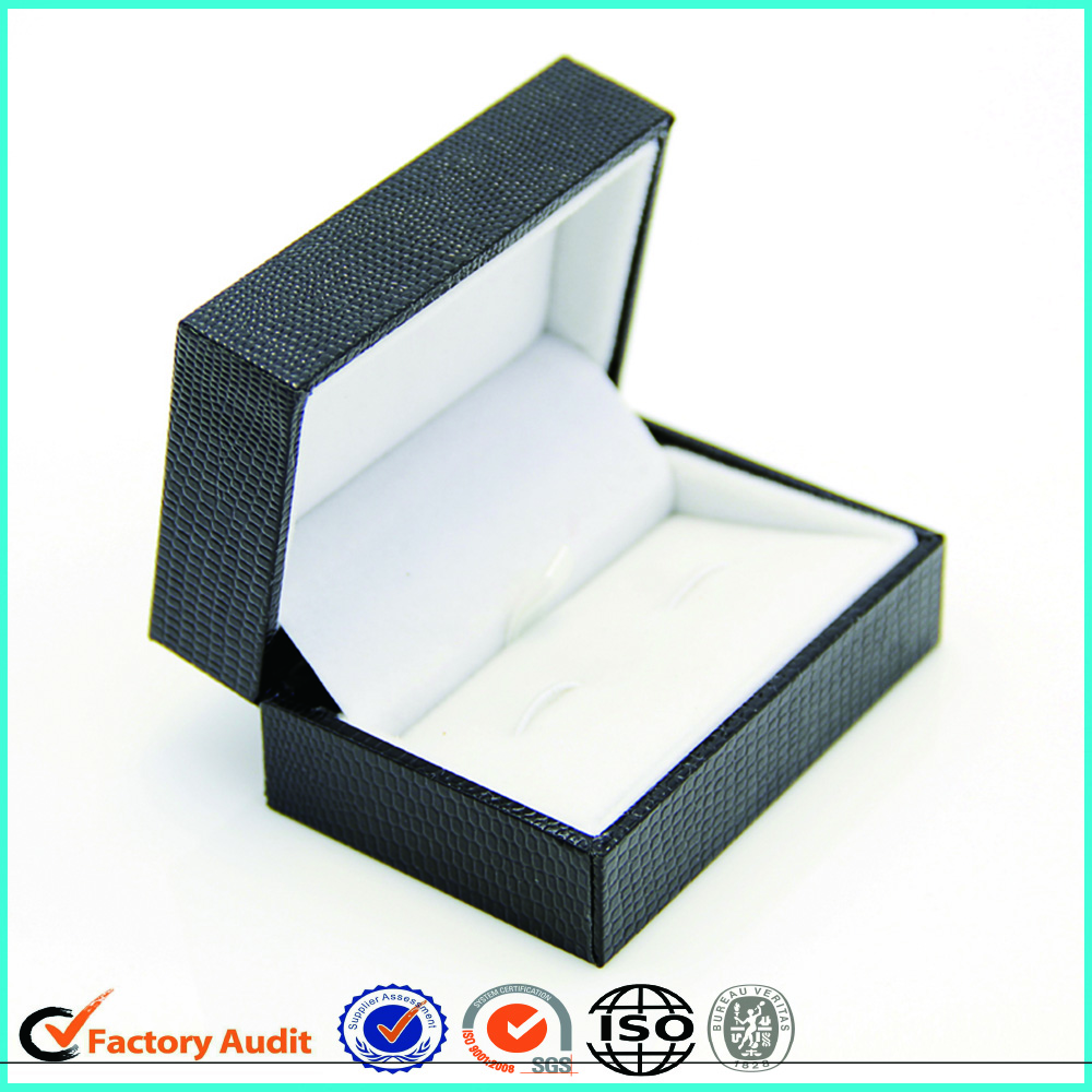 Luxury Black Cufflinks Paper Box Packaging