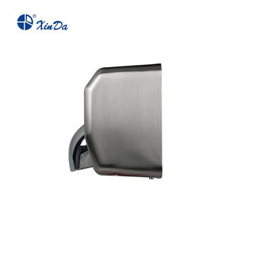 Auto hand dryer with 360 degree revolving nozzle
