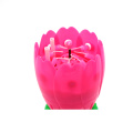 Magic colorful rotating lotus music birthday candle