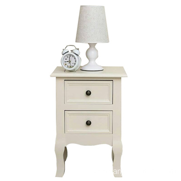 furniture bedroom organizer white ivory bedside table night stands