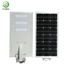 Aluminum  ip65120w integrated solar led street lamp