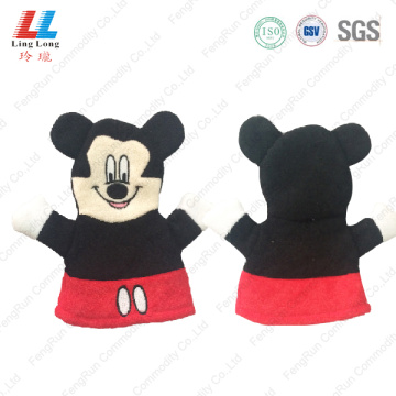 Mickey style lovely bath gloves